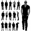 Royalty-Free Stock Vector Image: Fashion man silhouettes