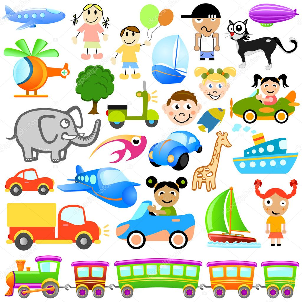 Cartoon design element set — Stock Vector #7615331