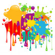 Color paint splashes — Stock Vector