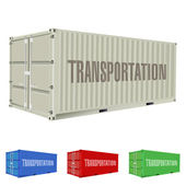 Freight container — Stock Vector