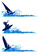 Surfing design elements — Stock Vector