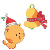 Christmas Cat — Stock Vector