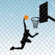 Basketball silhouette background — Stock Vector