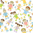 kids pattern — Stock Vector