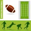 Football design elements — Stock Vector