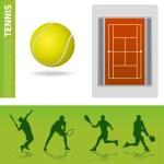 Tennis design elements — Stock Vector #7850791