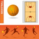 Basketball design elements — Stock Vector