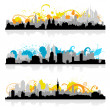 Stock Vector: Cityscape skyline