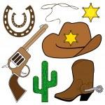 Cowboy design elements — Stock Vector