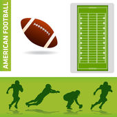 Football design elements — Stock Vector