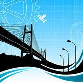 Fundo de ponte — Vetor de Stock