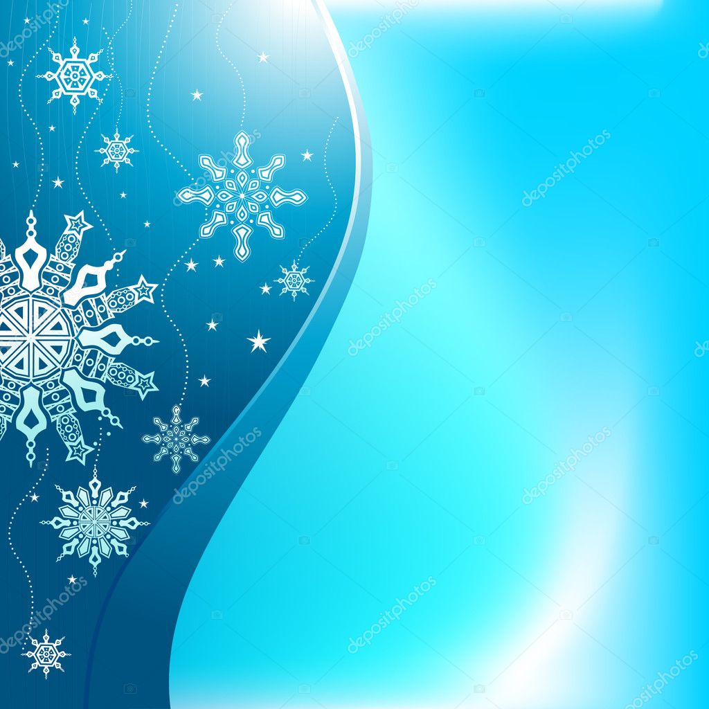 Snowflakes blue background vector — Stock Vector #7850772