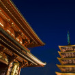 sensoji buddhist temple at night — Stock Photo