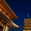 Sensoji Buddhist temple at night — Stock Photo #7543739