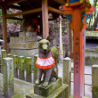 Fox statue in Japanese shrine — Stock Photo