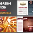 MAGAZINE LAYOUT DESIGN TEMPLATE — Stock Vector #6750468