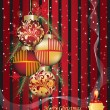 Royalty-Free Stock Vector Image: Christmas greeting card vector illustration