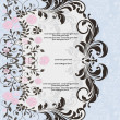 Royalty-Free Stock Vector Image: Blue invitation with floral elements