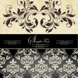 Royalty-Free Stock Vector Image: Vintage damask invitation card