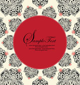 Vector Ornate Red and Black Frame — ストックベクタ