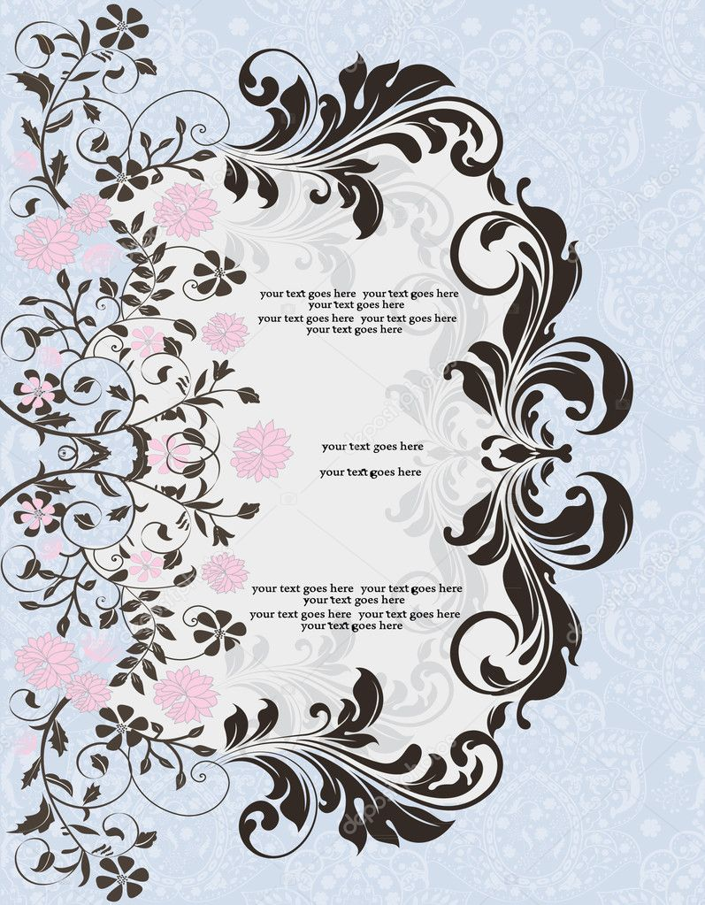 Invitation card — Stockvectorbeeld #7105314