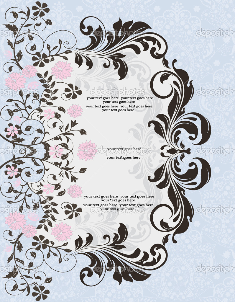 Invitation card — Image vectorielle #7105314