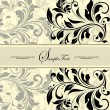 Cтоковый вектор: Vintage invitation card with abstract floral background