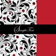 INVITATION CARD WITH RED AND BLACK ELEMENTS - Imagen vectorial