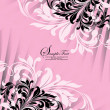 Pink invitation card with floral elements — Vektorgrafik