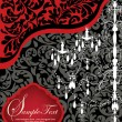 Romantic Invitation Card Design With Chandelier — 图库矢量图片