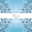 INVITATION CARD WITH FLORAL ELEMENTS — Imagen vectorial