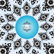 Royalty-Free Stock Vector: Vector ornate frame or invitation card on blue background