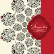 Stock vektor: Invitation card with red and black elements