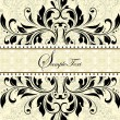 Vintage invitation card with abstract floral background — Imagens vectoriais em stock