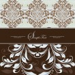 Royalty-Free Stock Imagen vectorial: Illustration with abstract floral background and place for text