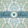 Vintage blue damask invitation card — Stock Vector #7276049