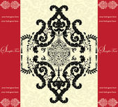 Invitation card with floral background and place for text — Stok Vektör