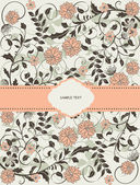 Invitation card with floral background and place for text — Cтоковый вектор