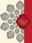 Cartão de convite com elementos de vermelhos e pretos — Vetorial Stock