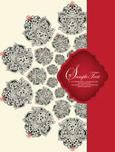 Invitation card with red and black elements — Vettoriale Stock