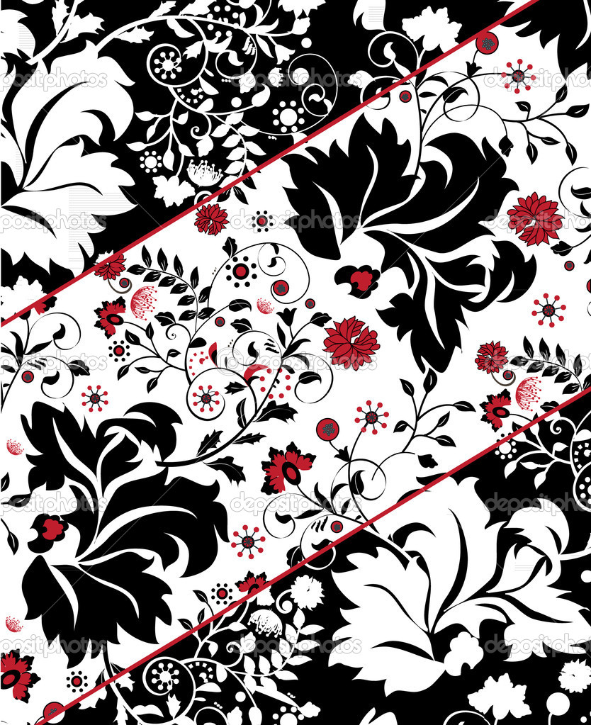 Floral background  Stock Vector #7276068