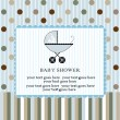 Stock vektor: Baby shower invitation