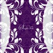 Royalty-Free Stock Vector Image: PURPLE FLORAL INVITATION CARD
