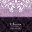 Purple invitation card,vector design — Vector de stock #7323011