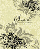 Invitation card with floral elements — Stockvektor