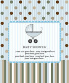 Baby shower invitation — Stockvektor
