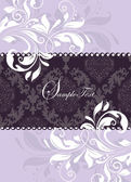 Elegant purple invitation card — Vector de stock