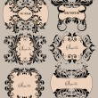SET OF VECTOR FLORAL FRAMES — Vettoriali Stock