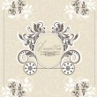 Vintage wedding invitation design with carriage - Stock Vector