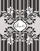 Ornate frame with floral elements — Stock Vector